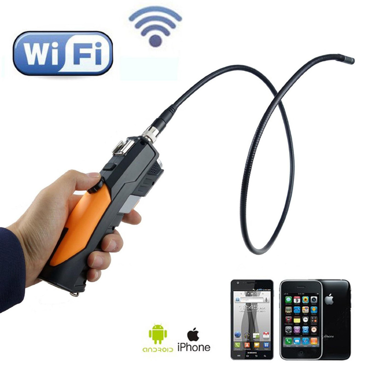 1 M El-held için WiFi HD720p Kablosuz Endoskop Video Borescope Kamera 4 ADET iOS Android Tablet