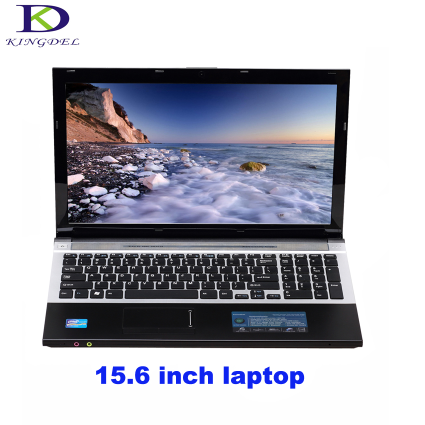 En iyi fiyat 4G RAM + 1 T HDD Celeron J1900 Quad core ile 15.6 inç Netbook laptop DVD-RW + WIFI + Webcam + Bluetooth + 1080 P HDMI A156